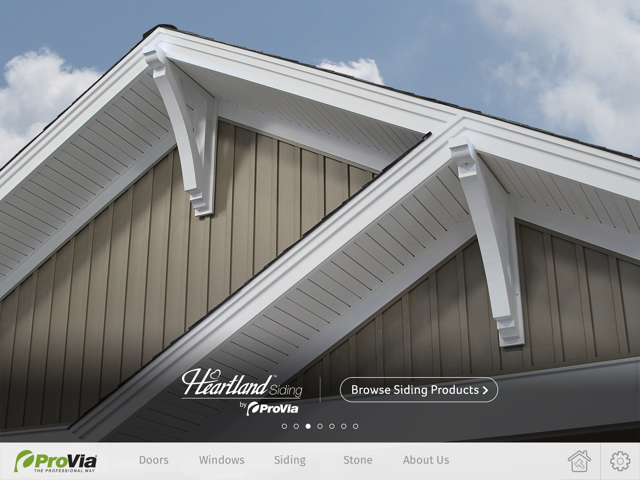 Provia 39 s home exterior design ipad app enables users to for Exterior house remodel app