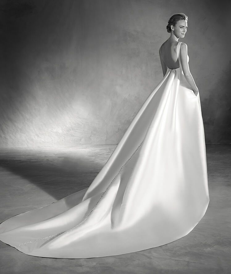 elma - vestido de novia confección de mikado | vestidos de novia