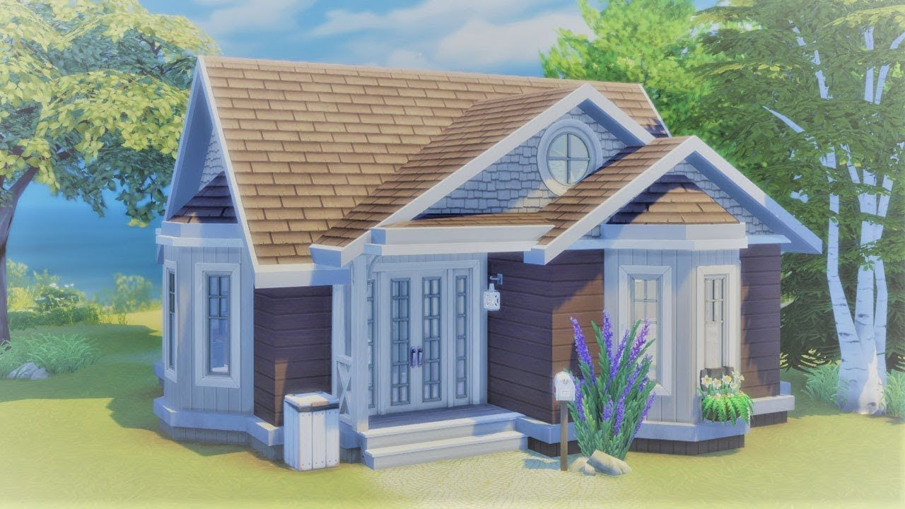 Seaside Bungalow The Sims 4 Cats Dogs Starter Speed Build Sims House Sims 4 Houses Sims