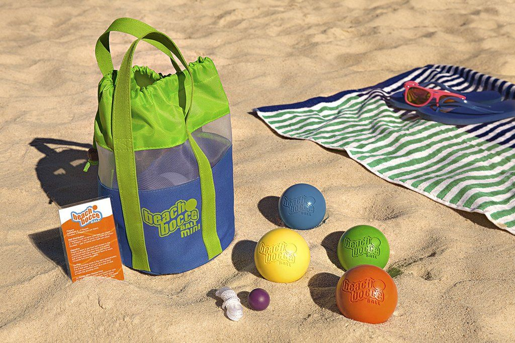 There's nothing more fun than a game of beach bocce ball