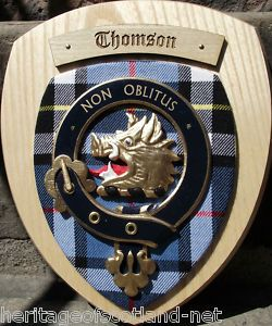 Scottish Gifts Thomson Family Clan Crest Wall Plaque | eBay | Cool