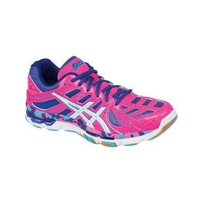 ASICS Women's Gel-Volleycross Revolution in Knockout Pink/White/Electric  Blue