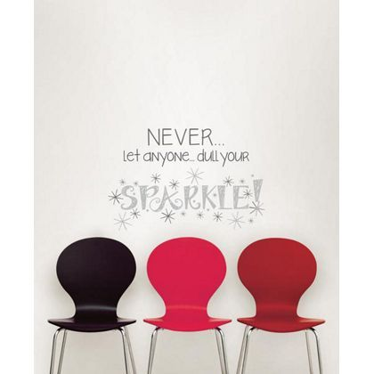 fine decor sparkle wallpops wall stickers   my room   wall quotes