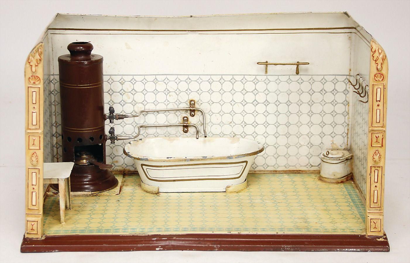 badezimmer märklin um 1900 | antikes wasch- und badehaus, Badezimmer ideen
