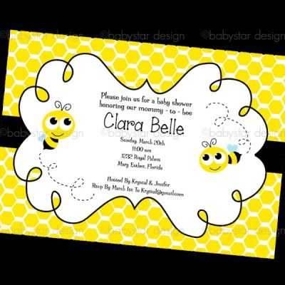 Bumble Bee Invitation Template Free Invitation Single Bumble Bee