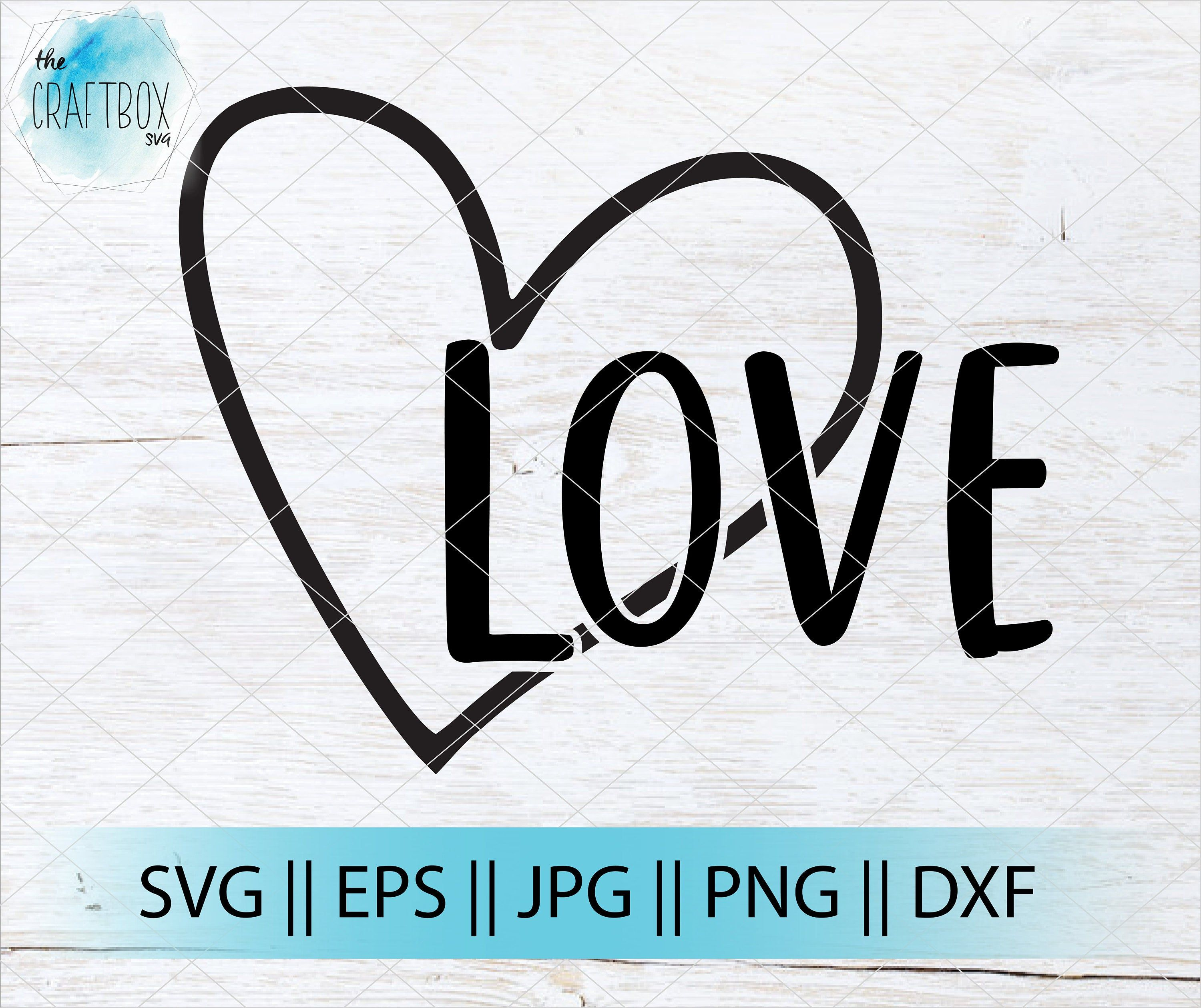 Download Love SVG | Love with heart craft file | SVG | PNG | Cricut ...