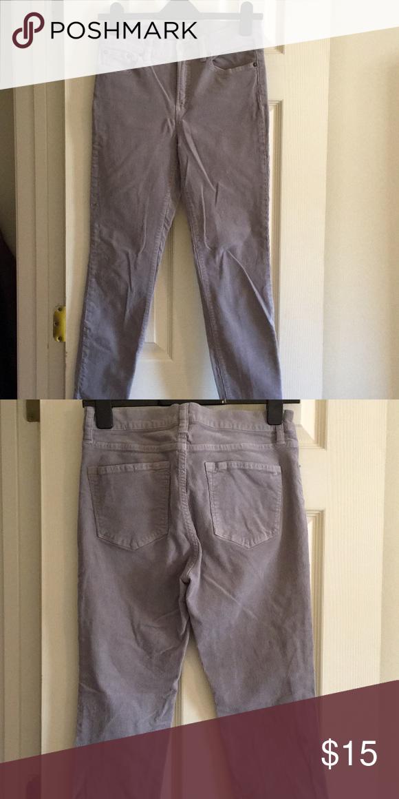 e77551cdac8 JCrew grey corduroys JCrew Lookout High Rise Skinny grey corduroy pants.  Size  28 J