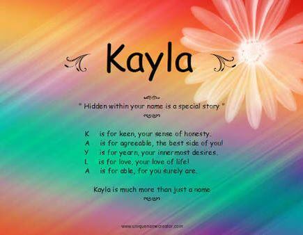 it stands for 💎 | A name kayla designs ..! | Kayla name, Name wallpaper, Names with meaning