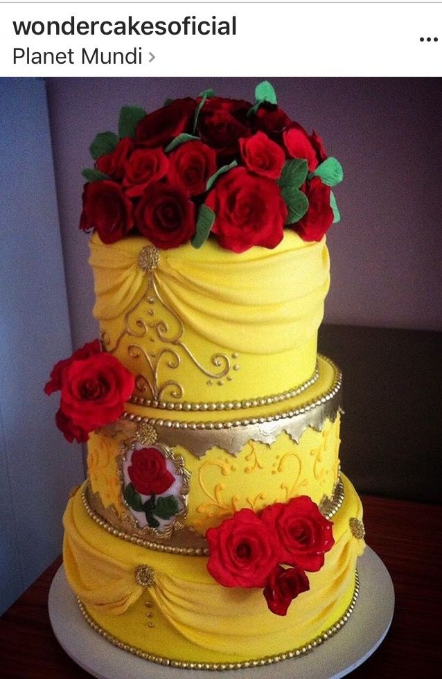 Beauty and The Beast inspired cake. Indian Weddings Inspirations ...