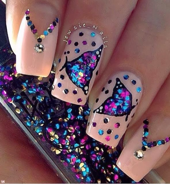 16 Butterfly Nail Designs For The Season Re Pin Nail Exchange