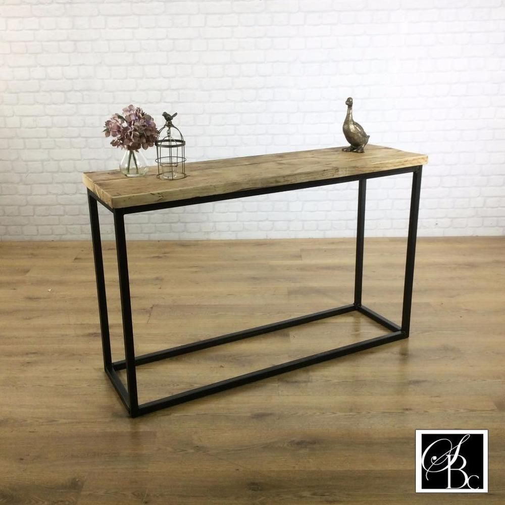 Metal Hall Table details about industrial console hall table wood vintage metal