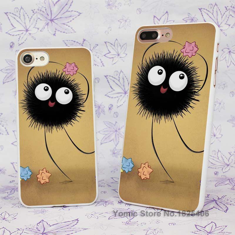 Dust Bunny Studio Ghibli Design hard White Skin Case Cover for Apple iPhone 7 6 6s Plus SE 5c 5 5s 4 4s