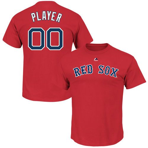 ec06c8f9d Men s Boston Red Sox Majestic Scarlet Custom Roster Name   Number T-Shirt