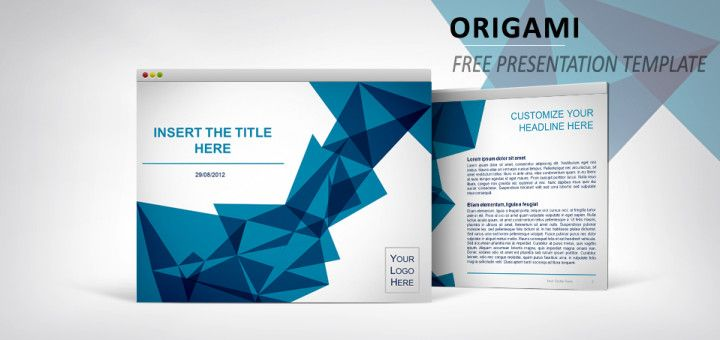 Origami  Free Template For Powerpoint And Impress  Ideias Para A