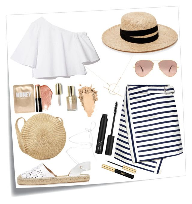 """Espadrilles🔥"" by annakaterinalaine ❤ liked on Polyvore featuring Post-It, Carven, Maiden Lane, Janessa Leone, A Weathered Penny, Lapcos, Bobbi Brown Cosmetics, Ray-Ban, Stila and Yves Saint Laurent"