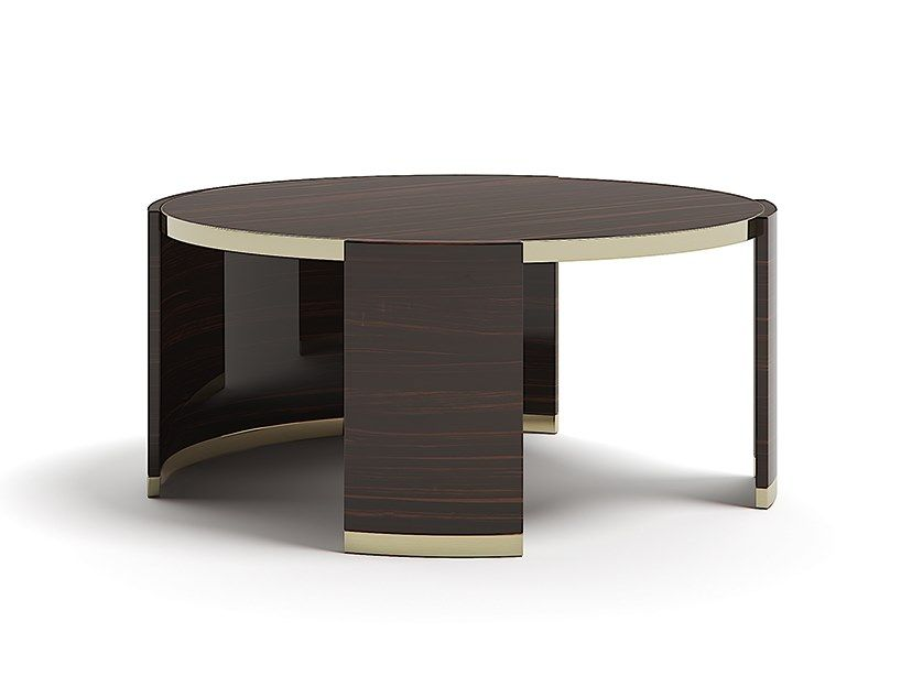 Low Round Wooden Coffee Table With Images