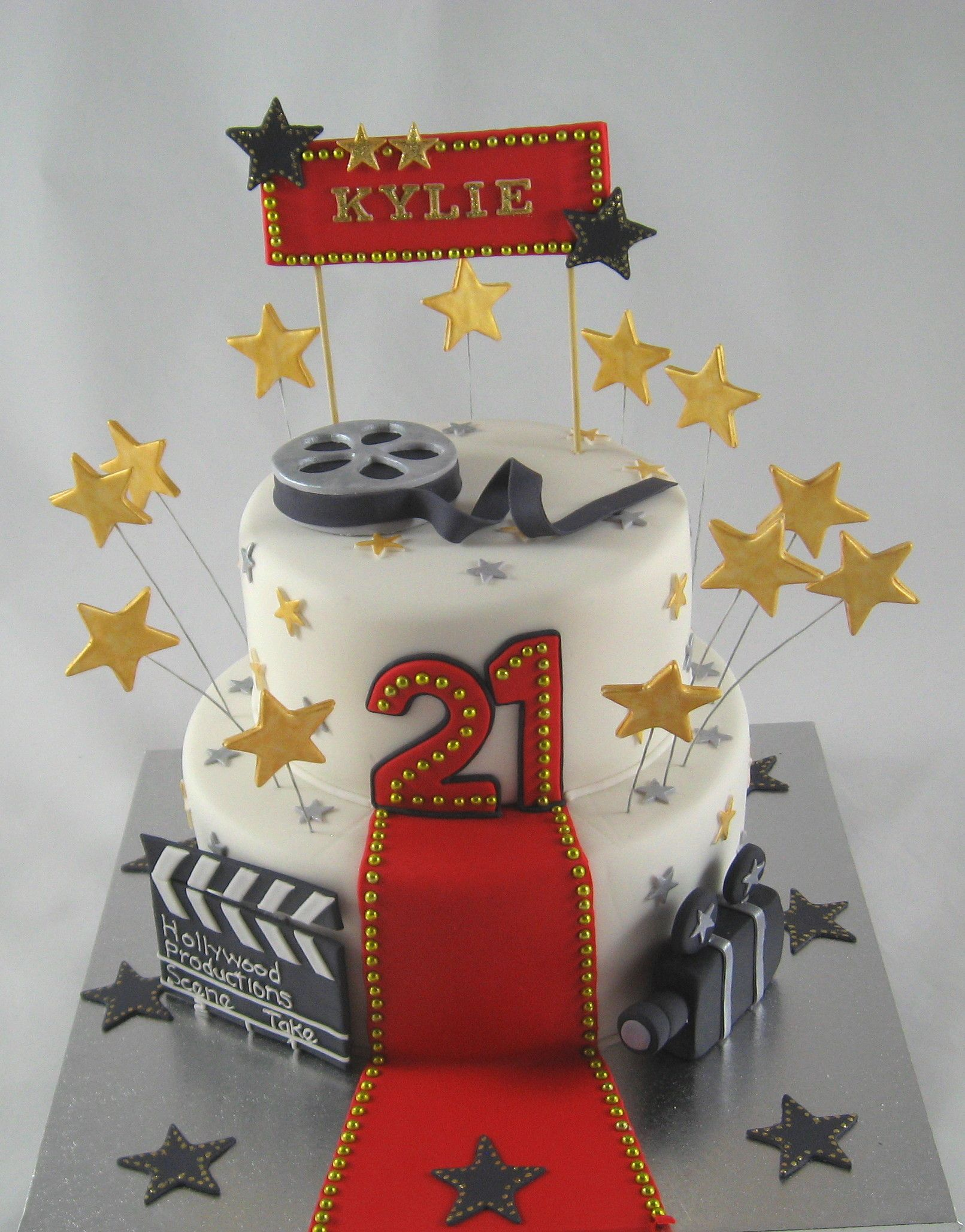 Super Hollywood Red Carpet 21St Birthday Cake By Cakesisters Com Au Funny Birthday Cards Online Elaedamsfinfo