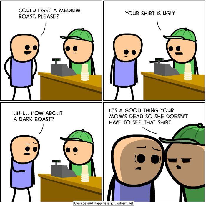 144 Brutally Hilarious Comics For People Who Like Dark Humor Cyanide Happiness Cyanide And Happiness Funny Comics Dark Humor