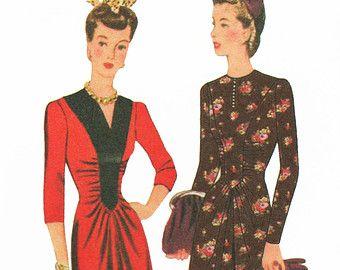 Popular items for swing era dress on Etsy