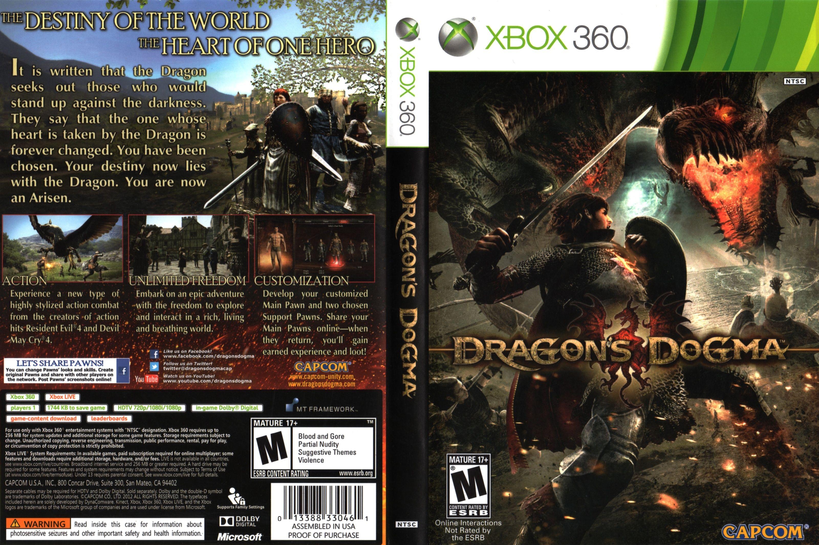 Dragon S Dogma Ntsc Xbox 360 Cover Full Dragon S Dogma World Of