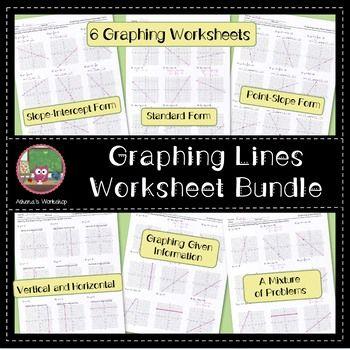 Graphing Lines Worksheet Bundle Standard Form Worksheets And Equation