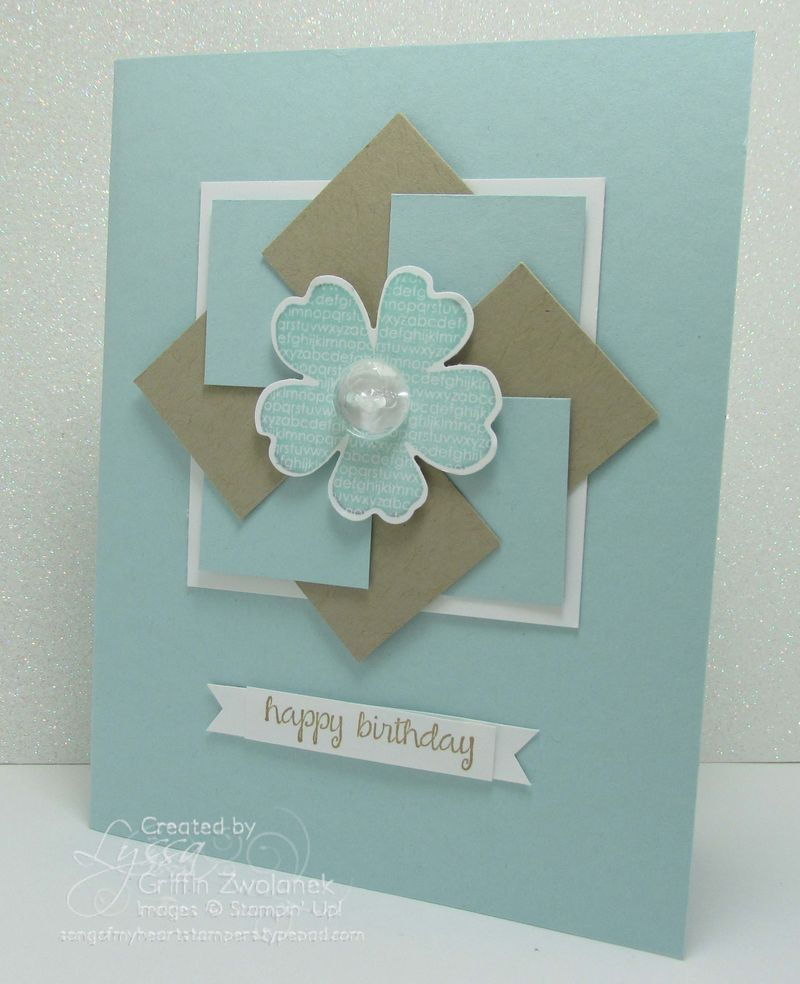 2014 Pinwheel card with faux folded banner | birthday cards ...