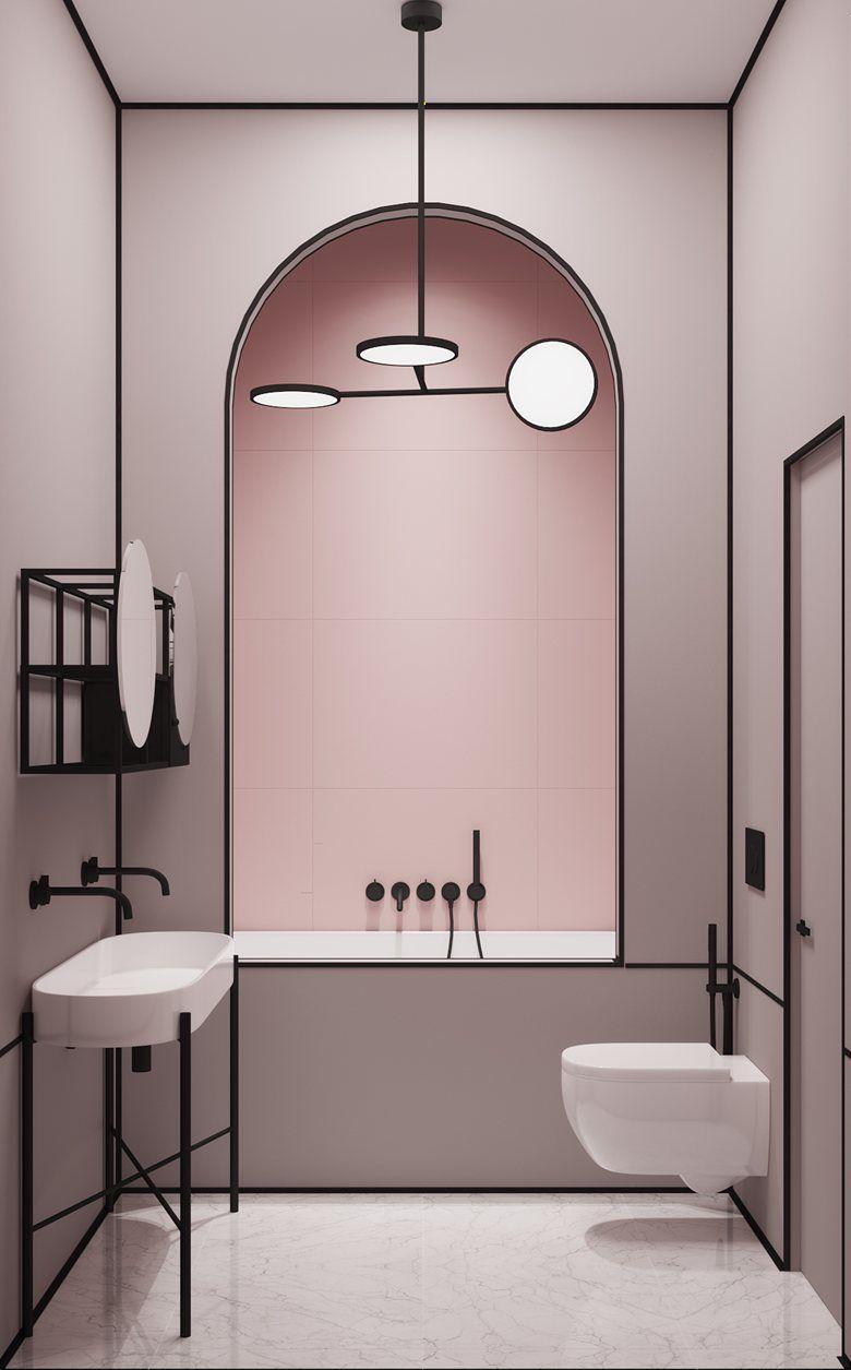 Bagno Rosa E Nero parisian apartment - picture gallery   arredamento bagno