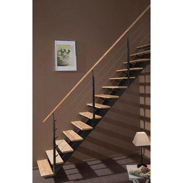 Escalier Escatwin Escapi Droit En Bois Et Aluminium 16 Marches A 1164 Leroy Merlin Escalier Droit Escalier Balustrade Escalier