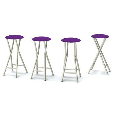 Best Of Times Padded Solid Outdoor Backless Bar Stools