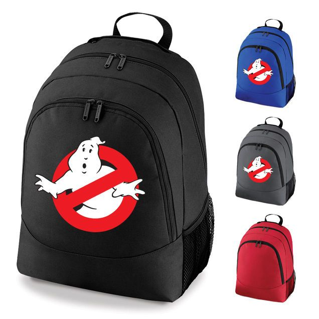 a40bd1995e For loki Ghost busters Retro Movie Logo School Work Backpack Rucksack Bag  NEW