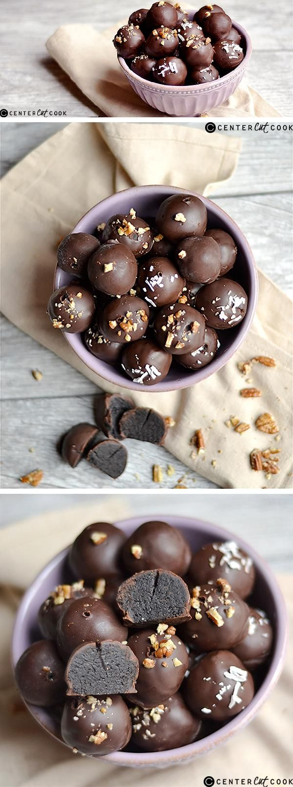 These NO BAKE CHOCOLATE CAKE BATTER TRUFFLES have all the taste of the most indulgent and delicious chocolate cake in a bite sized truffle!! So simple and delicious!