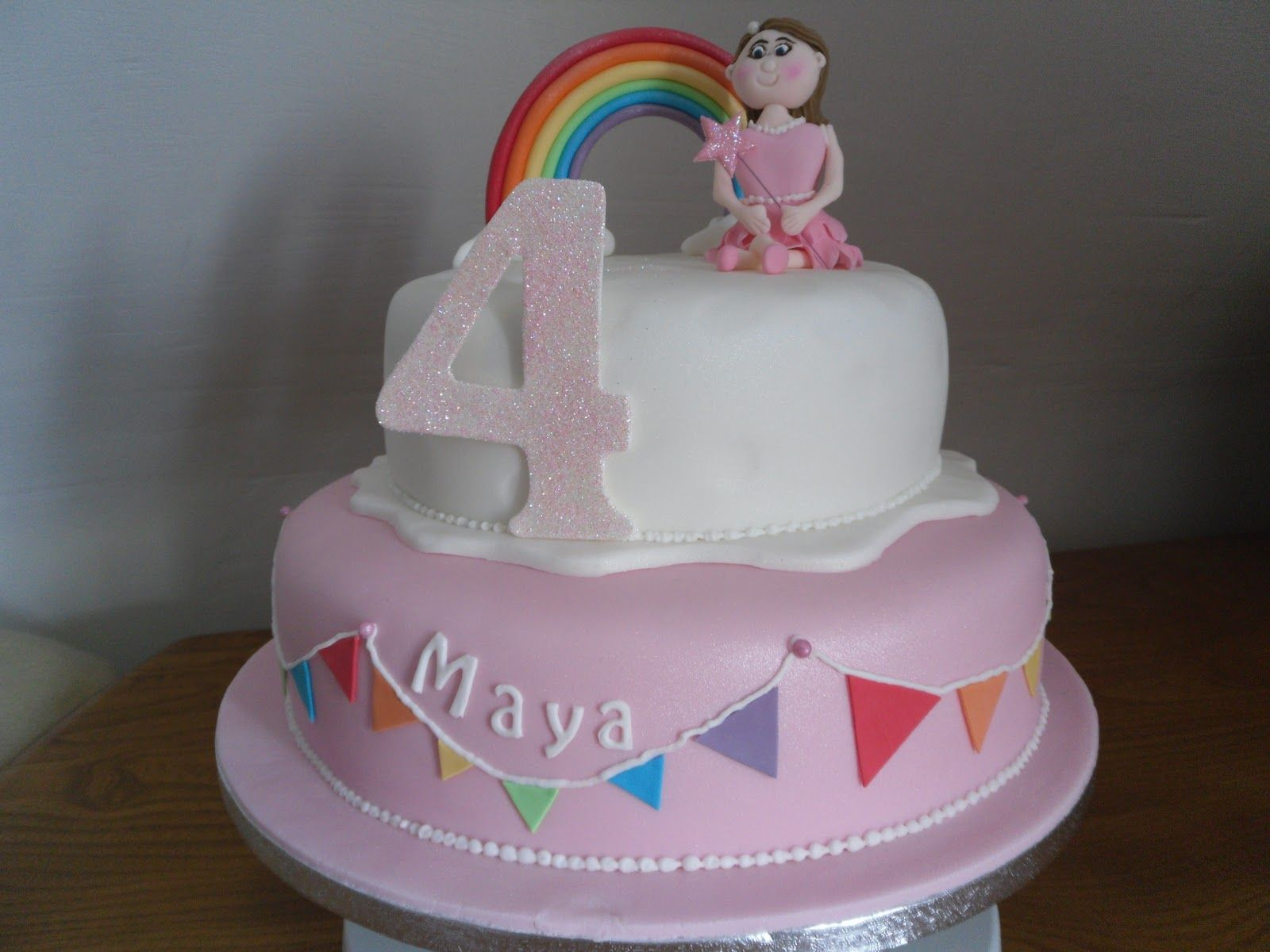 'Rainbow Princess Birthday Cake' as requested by Miss 4