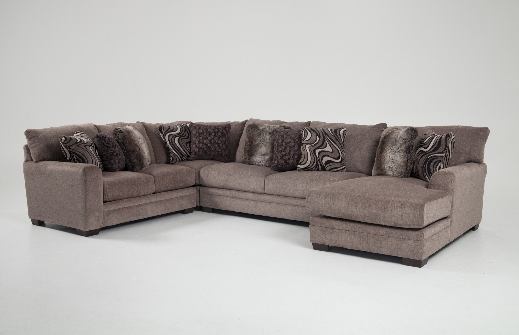 Luxe 4 Piece Left Arm Facing Sectional With Chaise Bobs Com Bobs Furniture Couch Furniture Bobs Furniture Living Room