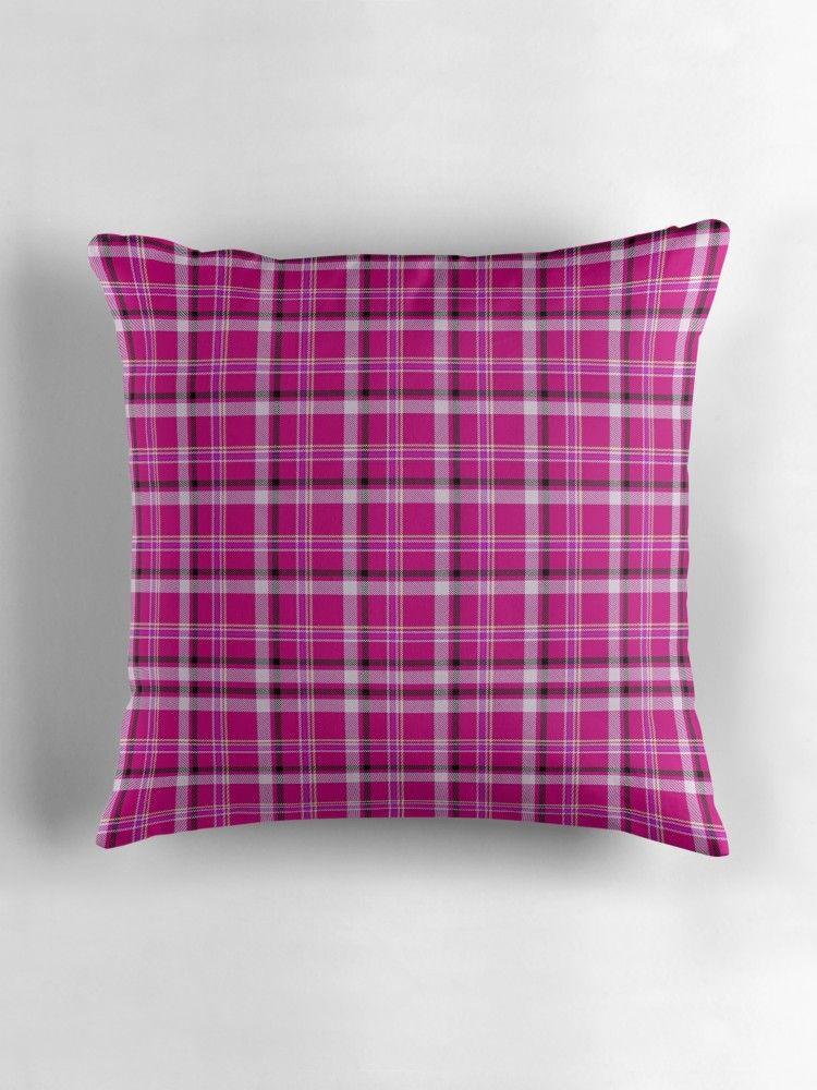 PINK TARTAN NINE   Throw Pillow   Home Decor (General) Print-On