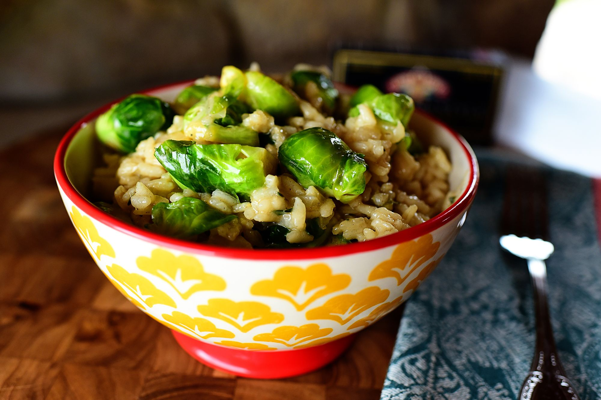 Risotto with Brussels Sprouts and Browned Butter