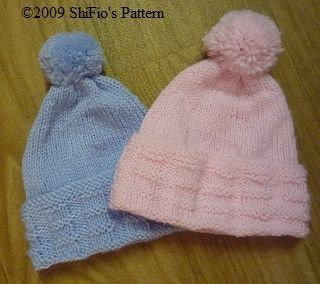 0733de82789 Knitted Hats USA--Free pattern--3 baby sizes