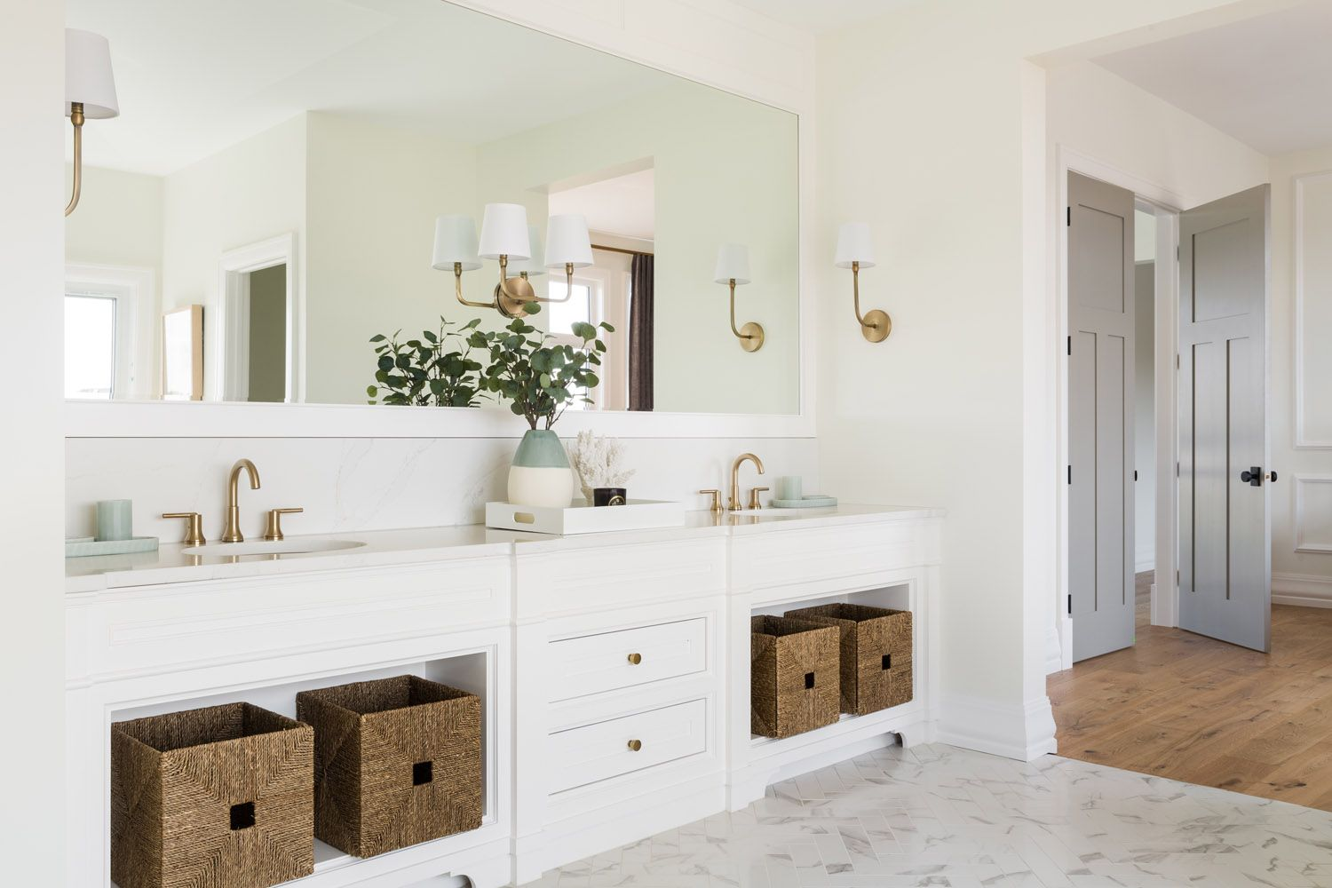 A Dreamy Modern Meets Traditional Show Home In Calgary Luxury Master Bathrooms Home Remodeling Modern Meets Traditional