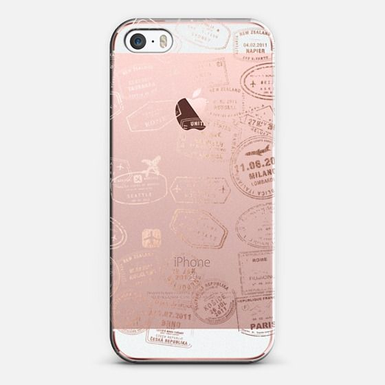 Let's travel...where too? Rose gold - Classic Snap Case