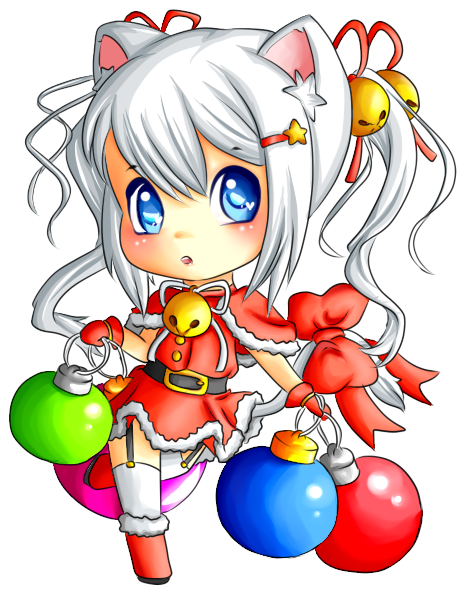 Christmas Neko 2O1O by TheOrchestraSystem on deviantART