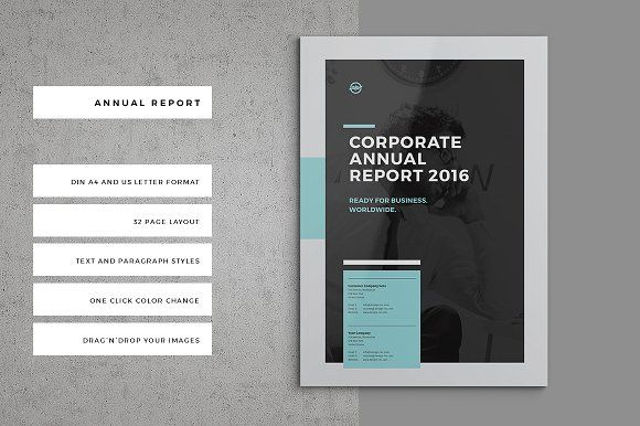 Annual Report By Egotype On Creativemarket  Brochure Design