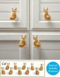Cat Drawer Pulls 10 Pieces  -