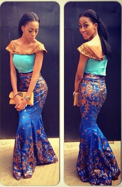 Lace Skirt And Blouse Style Nigerian Attire Pinterest African