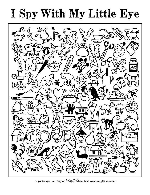 I Spy Game Coloring Pages Teaching Classroom