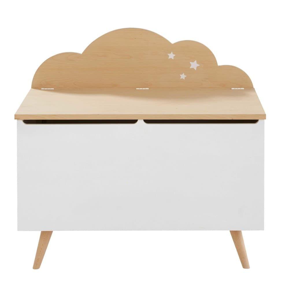 Coffre enfant nuage bicolore | Rénovation | Chambre bébé nuage