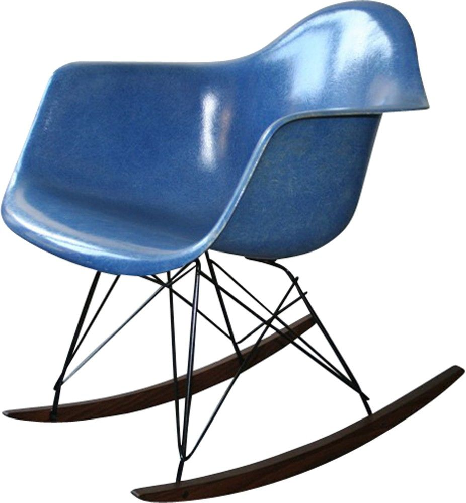 Herman Miller blue RAR armchair, Charles & Ray EAMES