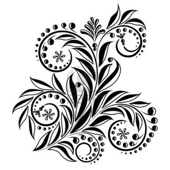 Black And White Leaf Design Google Search Woodcarving Design