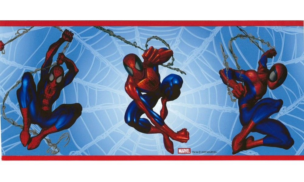 Marvel Spiderman Wallpaper Border BZ9110 Wallpaper