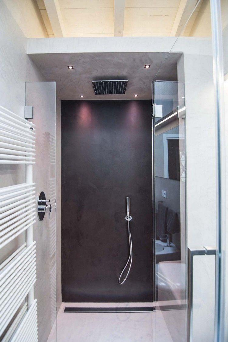 begehbare Dusche mit 4 RGB LED Spots für tolle Lichteffekte ...