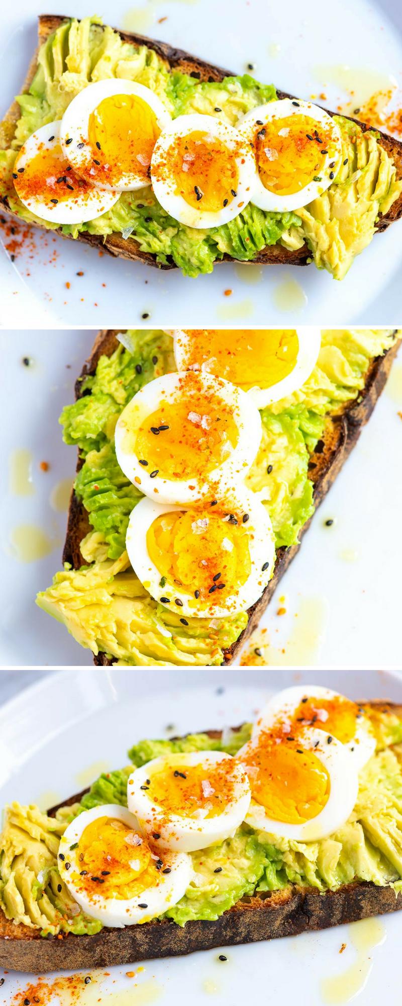 Smashed Avocado Toast with Egg