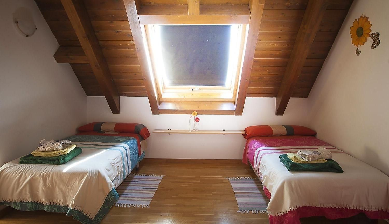 Interesting Small Attic Bed Room Idea With Wooden Sloping Design - Customized closet designs small rooms sloped roofs